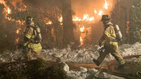 An early morning fire struck a large house