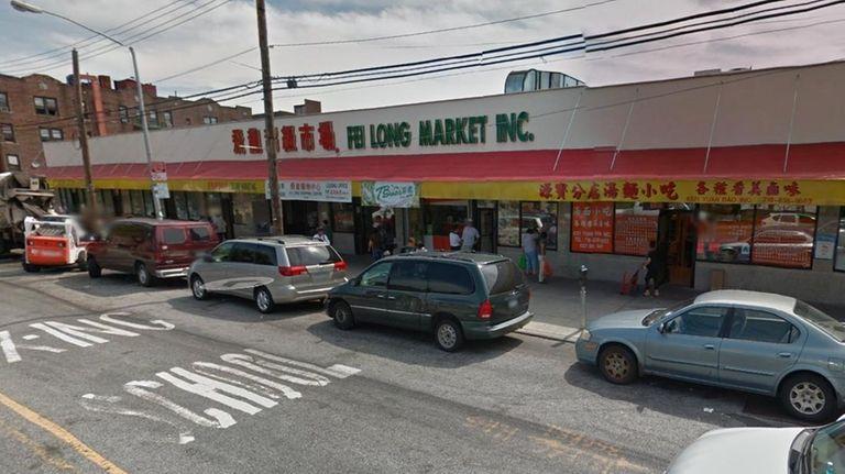 An exterior image of the Fei Long Market