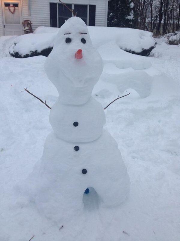 "We found Olaf from ""Frozen"" in Greenlawn!"