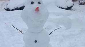 "We found Olaf from ""Frozen"" in Greenlawn!"