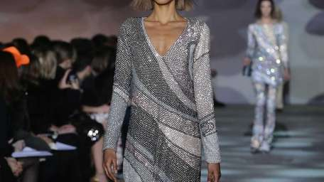 A model walks the runway at the Marc