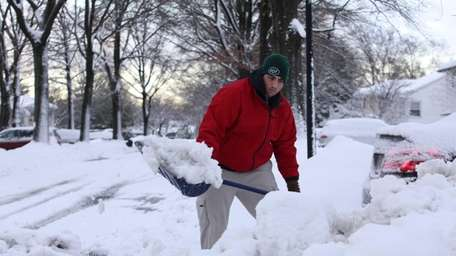 Steve Cirenza digs out at his East Drive