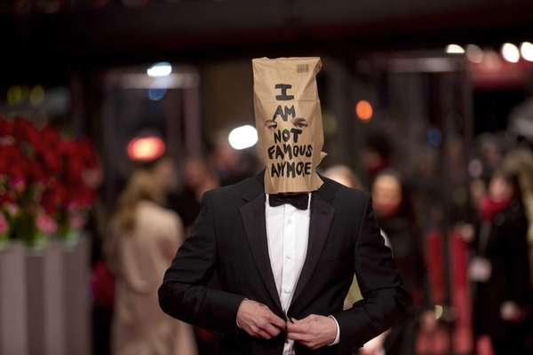 Actor Shia LaBeouf poses for photographers wearing a