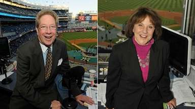 John Sterling, left, and Suzyn Waldman will likely
