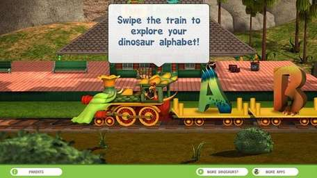 The Dinosaur Train A to Z app is
