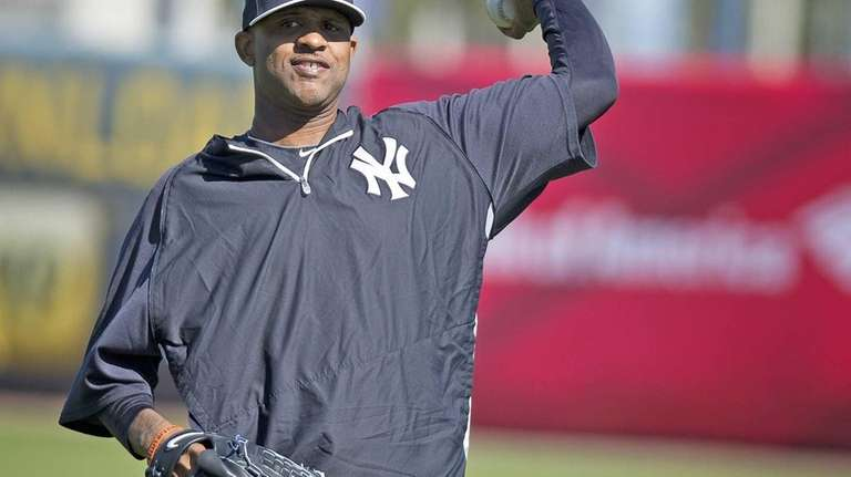 CC Sabathia works out at Steinbrenner Field in
