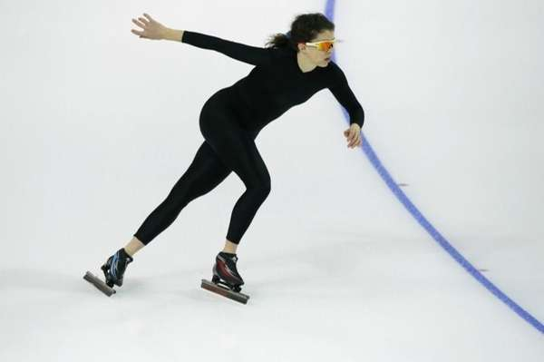 Maria Lamb of the U.S. skates in a