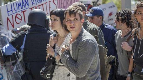 Brina Palencia as Sophia and Matt Lanter as