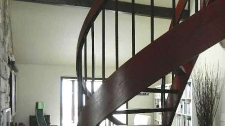 This custom bentwood spiral staircase was created by