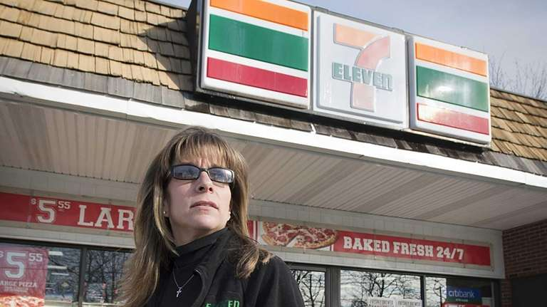 7 Eleven store owner Lorie DeFelice outside her