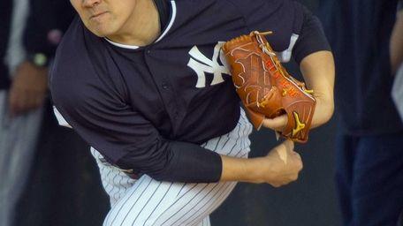 Yankees' Masahiro Tanaka works out at Steinbrenner Field