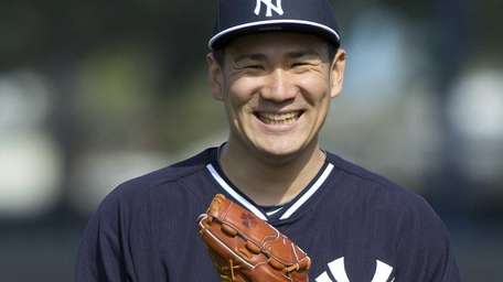 Yankees Masahiro Tanaka works out at Steinbrenner Field