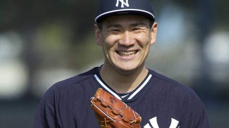 Yankees Masahiro Tanaka works out at Steinbrenner Field