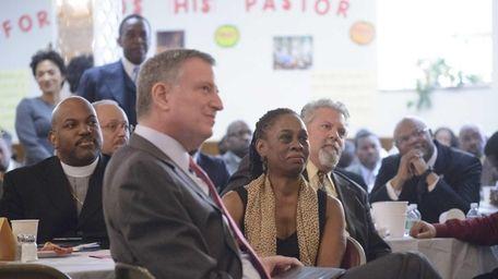 New York City Mayor Bill de Blasio, second