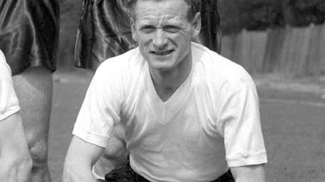 Former England forward Tom Finney is pictured in