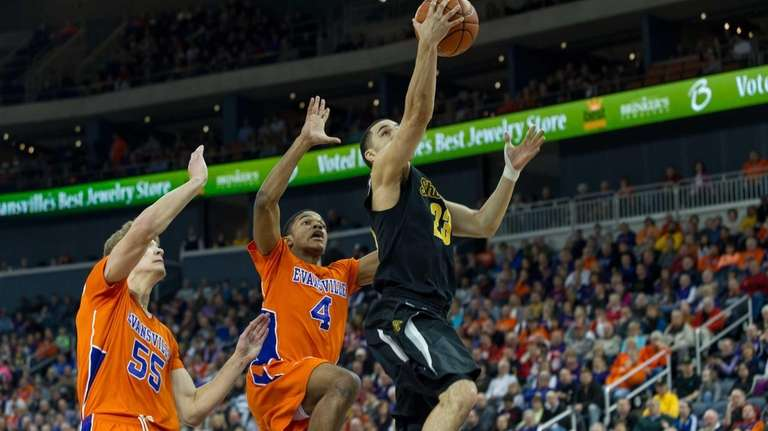 Wichita State's Fred Vanvleet goes up for a