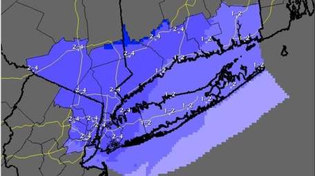 Storm total snow forecast for Feb. 18, 2014