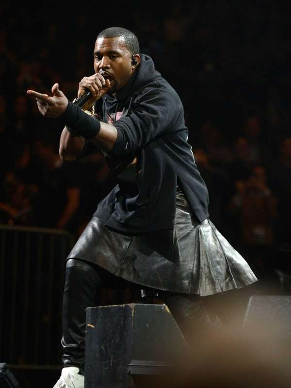 Kanye West performs at Madison Square Garden in