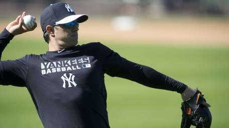 Brian Roberts works out at the Yankees' minor