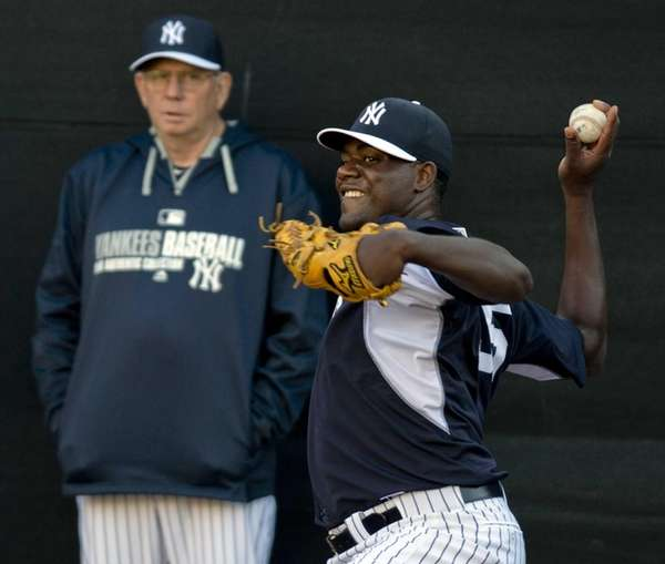 Michael Pineda throws in the Bullpen as pitching
