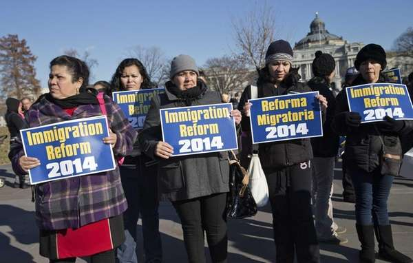 Immigration activists gather on Capitol Hill in Washington