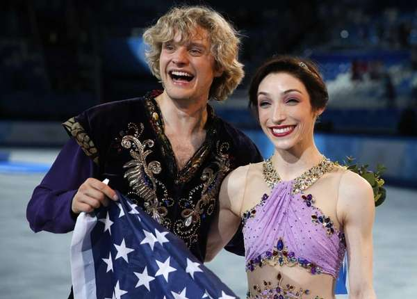 United State figure skaters Charlie White and Meryl