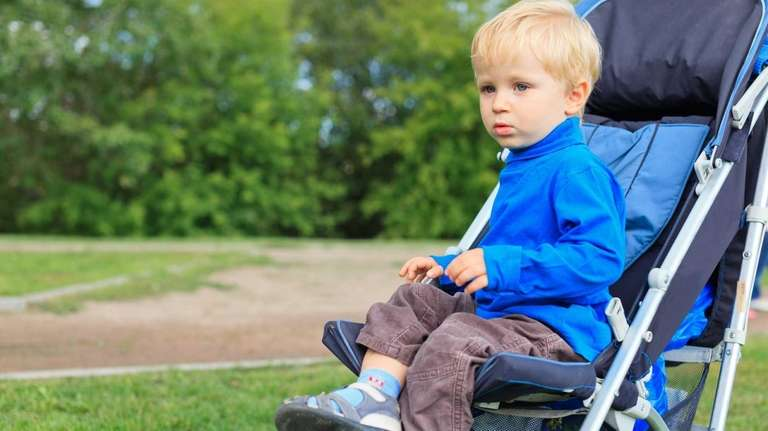 Experts weigh in on older children in strollers.