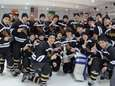 The Lynbrook ice hockey team celebrates its 2014