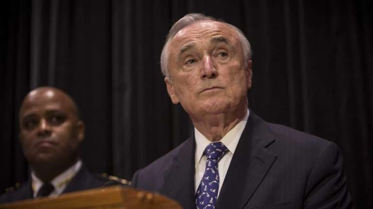 New York Police Police Commissioner William Bratton speaks