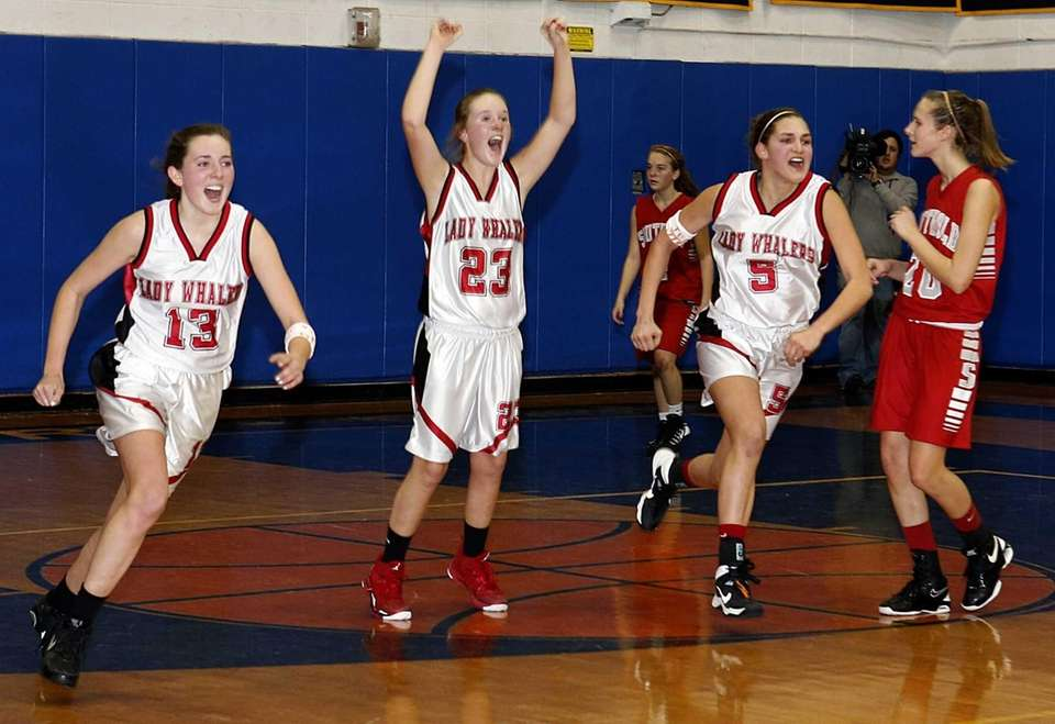 Pierson's Ellis Shail (13), Isabel Peters (23) and