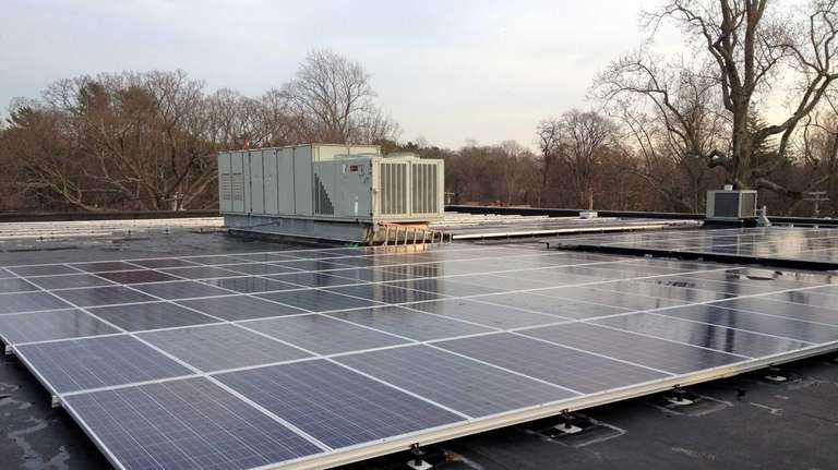 The 450 solar panels that were recently installed