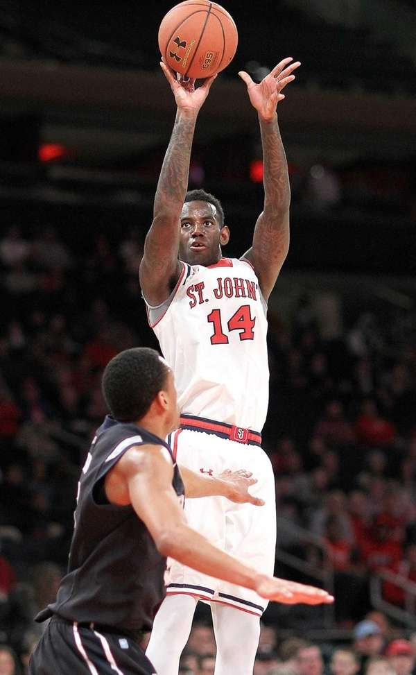 St. John's JaKarr Sampson shoots for two in