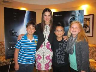 Actress Sandra Bullock who stars in the movie