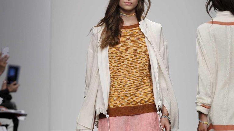Karen Walker's spring-ready pants ($350), print sweater ($205)