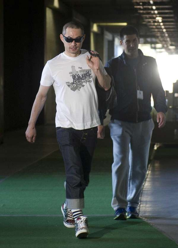 Ichiro Suzuki reports for Spring Training at Steinbrenner