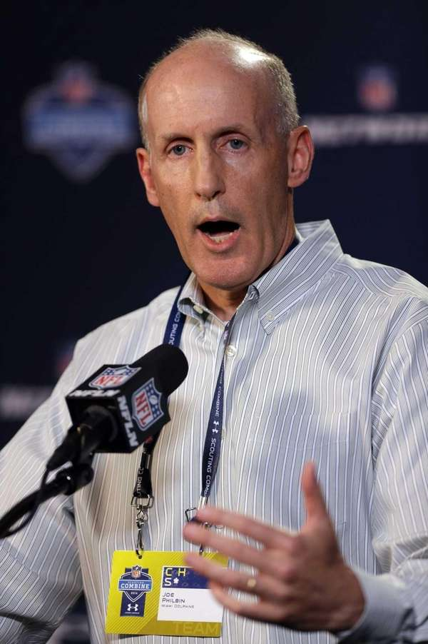 Miami Dolphins head coach Joe Philbin answers a