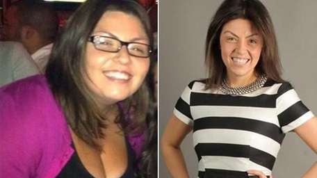Sarah Bellissimo, 32, of Glen Cove, turned Weight