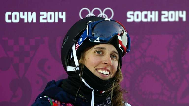 Maddie Bowman of the United States looks on