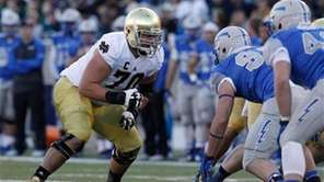 Zack Martin played offensive tackle for Notre Dame.