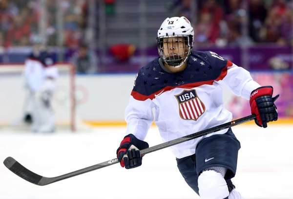 Julie Chu of the United States skates during