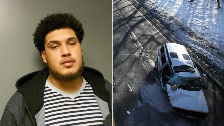 Steven Gonzales, 21, of Bay Shore, was arrested