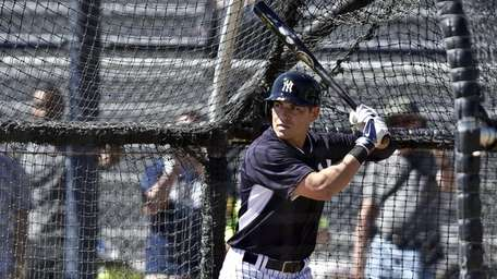 Jacoby Ellsbury during spring training batting practice at