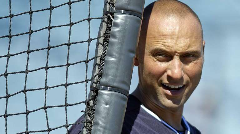 Derek Jeter works out with the team at