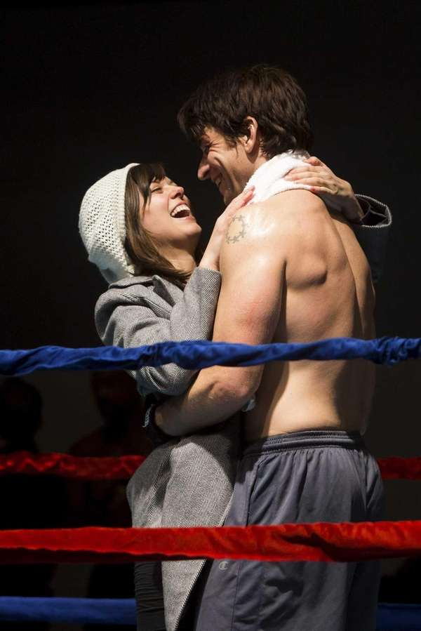 Margo Seibert and Andy Karl during rehearsal of