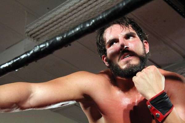 Johnny Gargano works out.