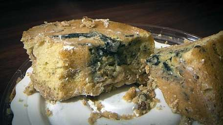 A cake with mold and parts of a