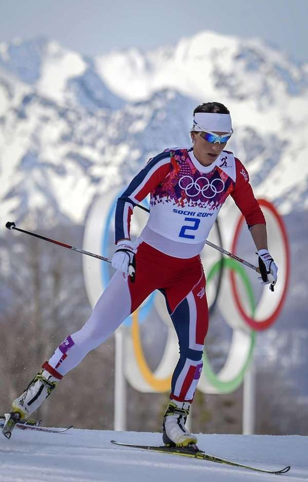 Norway's Marit Bjoergen competes in the Women's Cross-Country