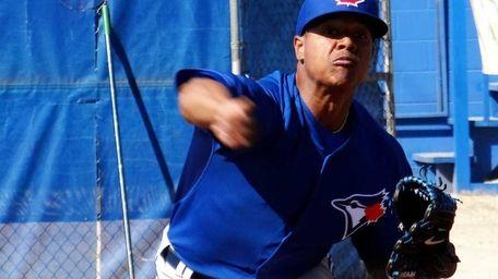 Toronto Blue Jays' Marcus Stroman throws at the