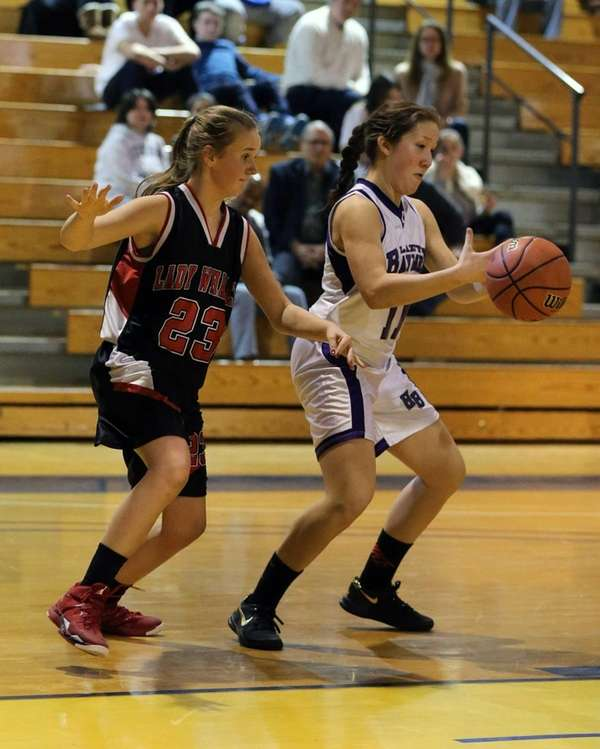 Pierson/ Bridgehampton's Isabel Peters and Hannah Reed of