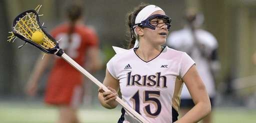 Notre Dame attacker/midfielder Cortney Fortunato controls the ball